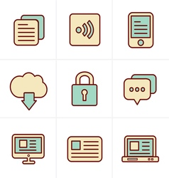 Icons Style Website Icons Set Design vector image