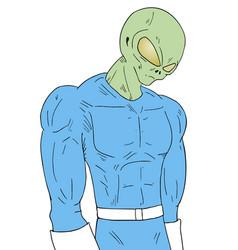 imaginative alien draw vector image