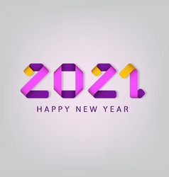 inscription happy new year 2021 on white vector image