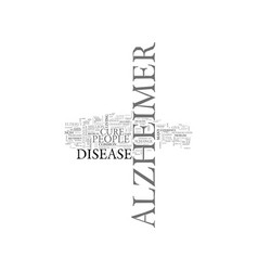 Is there a cure for alzheimer s text background vector