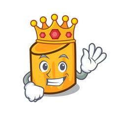 King rigatoni mascot cartoon style vector