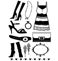 Ladies fashion elements vector