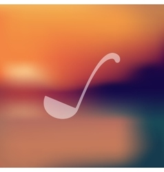 Ladle icon on blurred background vector