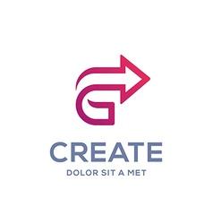 Letter c arrow logo icon design template elements vector