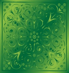 Luxury Vintage Floral Green Background vector