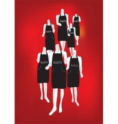 mannequin vector image