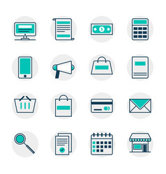 marketing elements vector image