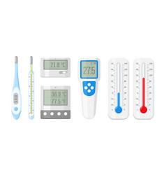 meteorology thermometers for measuring heat vector image
