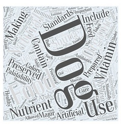 natural organic dog food Word Cloud Concept vector image