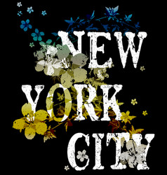 new york city typography poster fashion design vector image