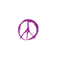 peace sign peace icon love peace label vector image