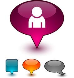 Person speech comic icons vector