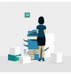 Photocopiers vector image