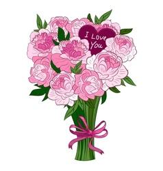 pink peonies vector image