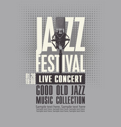 poster for a live jazz music concert vector image