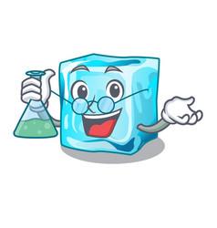 Professor ice cubes wiht mascot on above vector