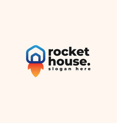 rocket house logo design template - good to use vector image
