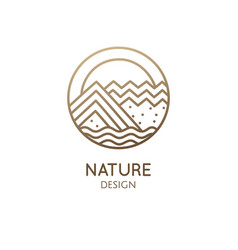 sacred icon abstract nature vector image