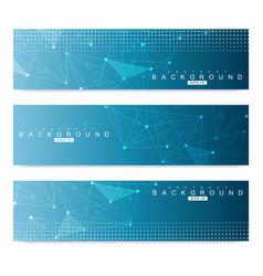 scientific set of modern banners dna vector image