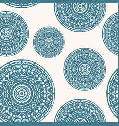 seamless pattern with curly circles pastel vector image