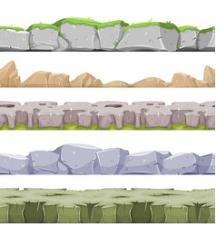 seamless rocky landscape and stony grounds for vector image