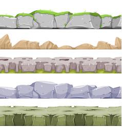 Seamless rocky landscape and stony grounds vector
