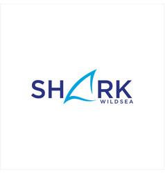 Shark fin logo design template vector