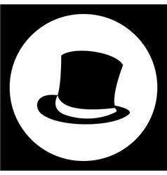 simple man cylinder hat black icon eps10 vector image
