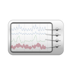 Simple polygraph in realistic style vector