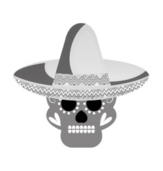 skull mask mexican culture vector image