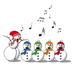 Snowman singing -choir vector