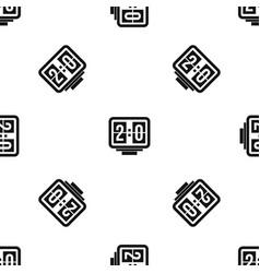 soccer scoreboard pattern seamless black vector image