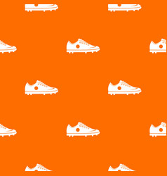soccer shoe pattern seamless vector image
