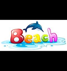 Summer escapade at the beach vector image