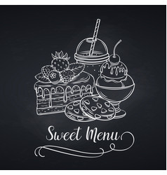 sweets icon blackboard style vector image