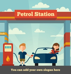 The Petrol Station vector image