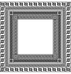 traditional simple meander black and white square vector image