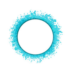 Turquoise droplets round frame or splashes empty vector