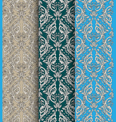 victorian ornate wallpaper vector image