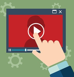 webinar concept in flat style - video player - vector image