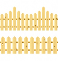 wooden seamless fences vector image