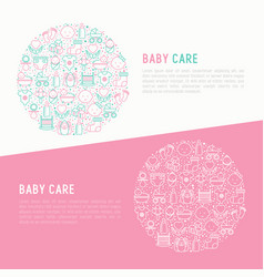 baby care concept in circle vector image