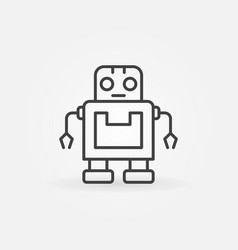 cute robot icon or symbol in line style vector image vector image