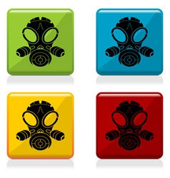 Gas mask sign buttons vector image