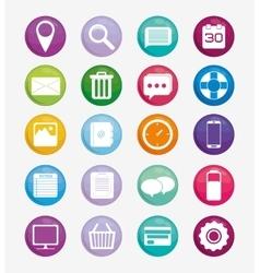 Multimedia icon set social media design vector