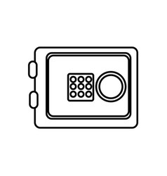 Silhouette metal safe money in the house secure vector