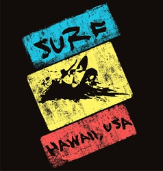 surf hawaii usa vector image