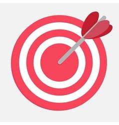 Target with heart arrow vector image