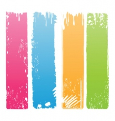 vertical grunge banners vector image