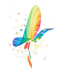 abstract colorful fantasy bird vector image vector image